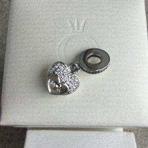 Pandora 'I love you mom' dangle charm